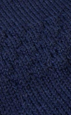 Sømandstrøje i alpaka uld fra Flo Flo. Mørkeblå. Detalje af strik