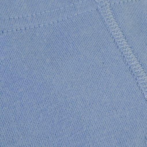 Leggings i blå uld bambus til præmatur. Joha. Detalje af leggings.