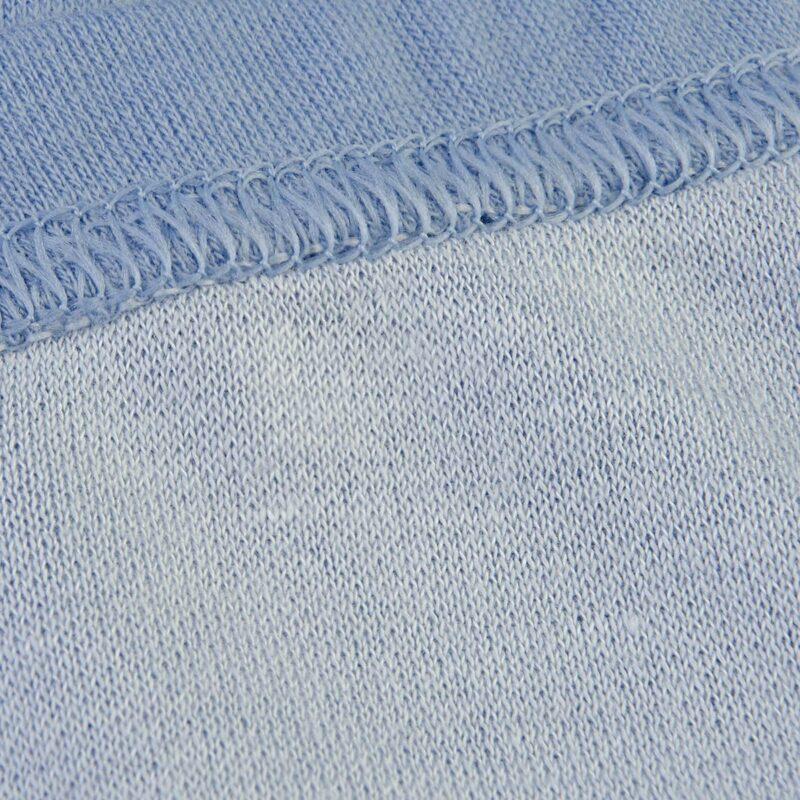 Leggings i blå uld bambus til præmatur. Joha. Bambus indvendig.