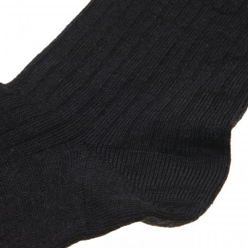MP ankelstrømpe i sort fra MP. Billede af hælen.