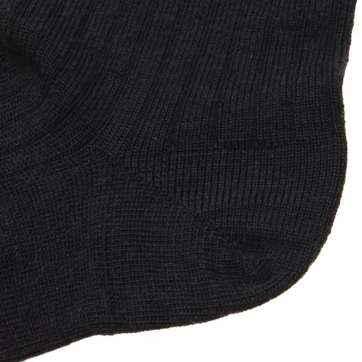 MP ankelstrømpe i mørkeblå fra MP. Billede af hælen.