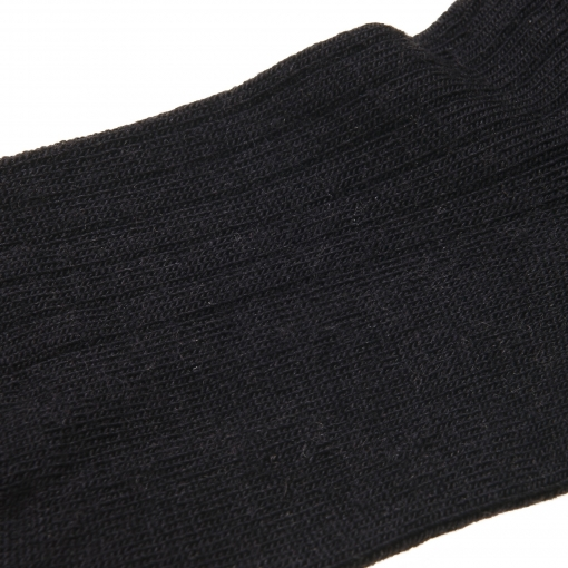 MP ankelstrømpe i sort fra MP. Billede af fod.