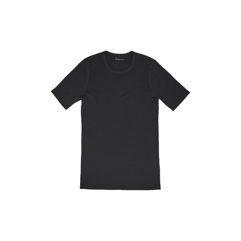 T-shirt til mand. Sort uld t-shirt fra Joha.