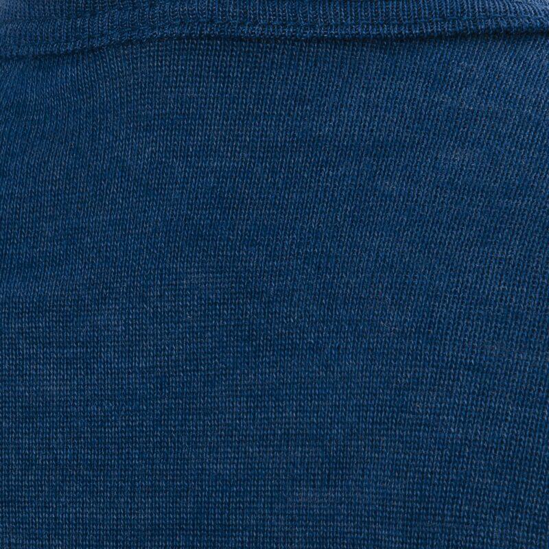 Økologisk t-shirt til barn. Blå uld silke t-shirt fra Engel. Detaljebillede.
