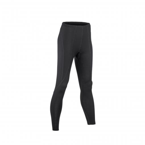 Løbetights til kvinde i økologisk uld silke. Sorte tights fra Engel. GOTS.