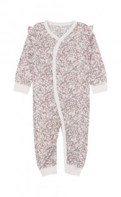 Heldragt i blomstermønstret uld silke fra Hust & Claire. Oeko-Tex