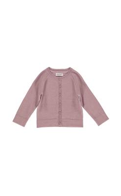MarMar bluse med knapper. Uld i støvet rosa.