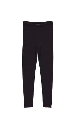 MarMar leggings i 100% merinould. Ribstrik. Mørk lilla.