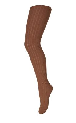 Strømpebukser i ribstrik. Karry-farvet uld - Oeko-Tex. MP