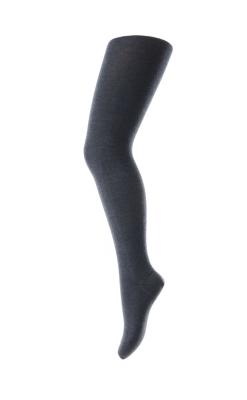 Basis strømpebukser i uld bomuld. Farve er støvet blå. Oeko-Tex certificeret. MP.