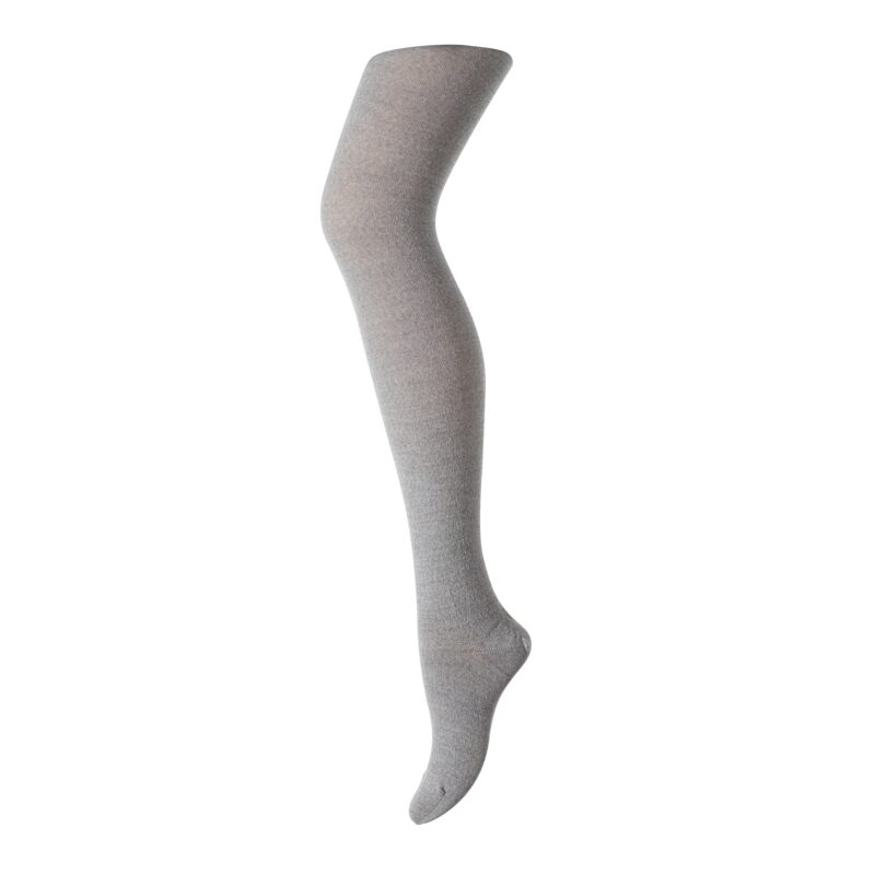Basis strømpebukser i uld bomuld. Farven er grå. Oeko-Tex certificeret. MP.