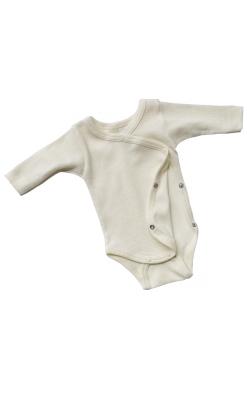 Body til for tidligt født i økologisk uld silke. Råhvid body fra Engel.