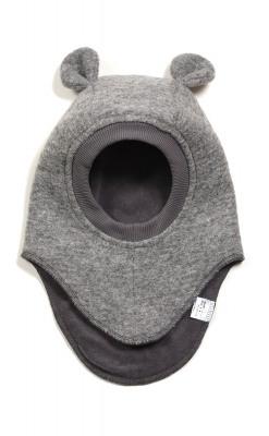 Huttelihut elefanthue med ører. Grå.