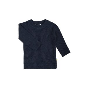 Mørkeblå. bluse i 100% merinould fra Joha
