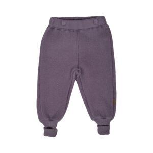 Mikk-Line softuld bukser i mørkerosa uld.