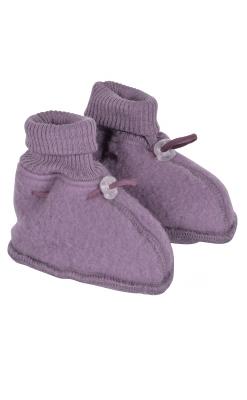 Mikk-Line uld futter i softuld. Har snørre for luk. Mørk rosa.