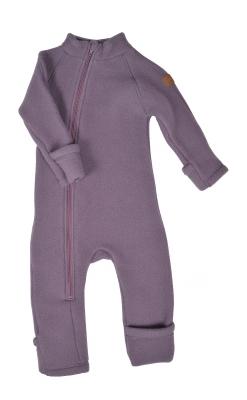 Mikk-line køredragt i mørk rosa softuld. Folde om og tryllefod.