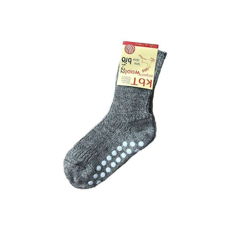 Strømper med dutter. Tykke strømper i grå uld fra Hirsch.