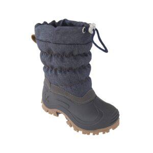 Vinterstøvle til barn. Vandtæt sål og vandafvisende. Blå støvle fra Move.