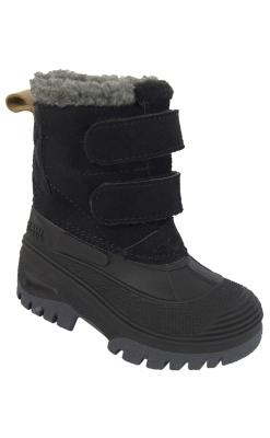 Vinterstøvle til barn. Vandtæt sål og vandafvisende skind på skaftet. Sort støvle fra Move.