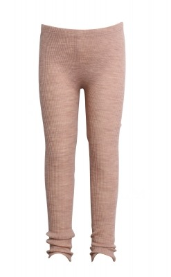Leggings fra Wheat. Leggings er i 100% merinould. Elastisk rib. Rosa.