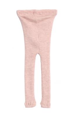 Uld leggings fra Wheat. Støvet rosa leggings. Oeko-Tex. Bagsiden.
