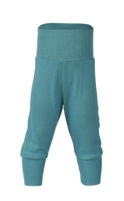 Økologiske babybukser i uld/silke fra Engel - Turkis