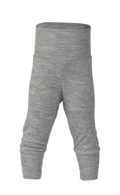 Økologiske babybukser i uld/silke fra Engel - Gråmeleret