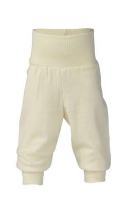 Økologiske babybukser i uld/silke fra Engel - Hvid