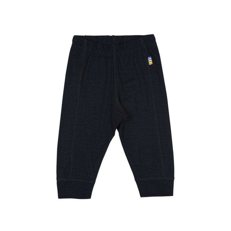 Leggings i uld til barn. Brug dem som natbukser eller lange underbukser. Mørkeblå Svanemærket 100% merionuld. Joha.
