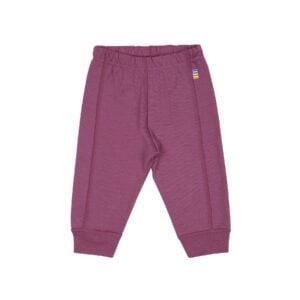 Leggings i uld til barn. Brug dem som natbukser eller lange underbukser. Mørk rosa Svanemærket 100% merionuld. Joha.
