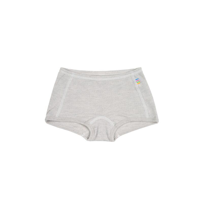 Hipster til piger i uld / silke fra Joha, Oeko-Tek, Sandfarvet med hvide syninger