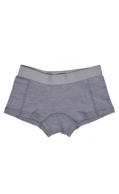Hipsters til pige i uld. Grå underbukser i 100% merinould fra Mikk-Line.