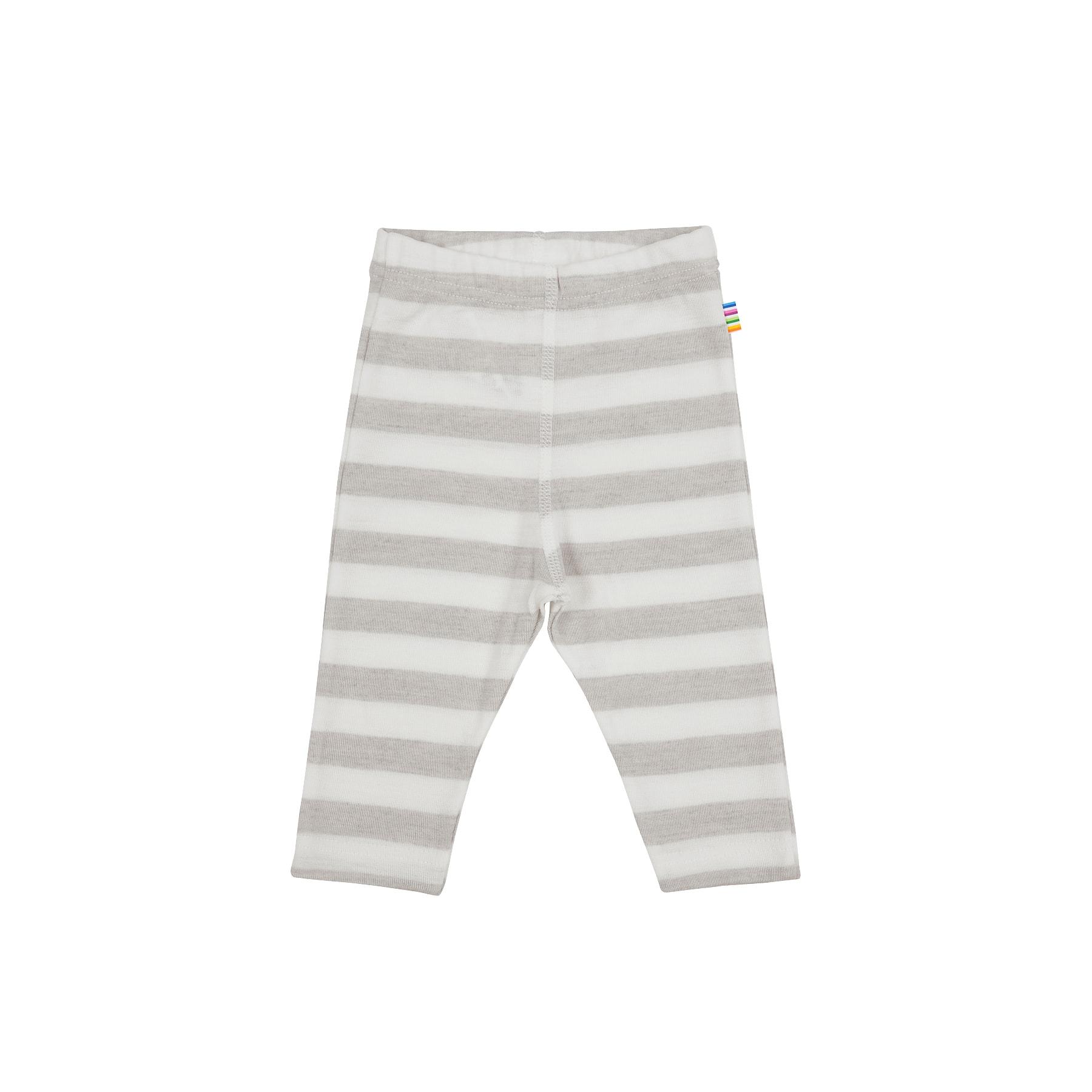 8f2bfb30bc5 Joha leggings til barn - Uld silke - Stribet lysegrå og hvide