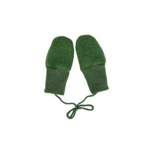 Luffer i uldfleece. Grøn økologisk uld fra Engel. GOTS.