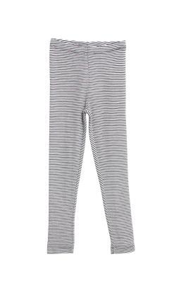 Bukser med mørke blå -hvide striber i 100% merinould fra Wheat