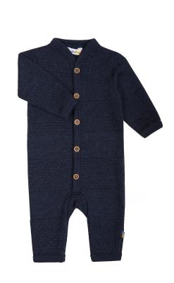 Heldragt i flot sømandsstrik. Mørkeblå uld. Svanemærket og fra Joha.