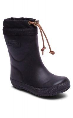 Thermostøvle i sort gummi med foer af ud. Bisgaard vintergummistøvle.