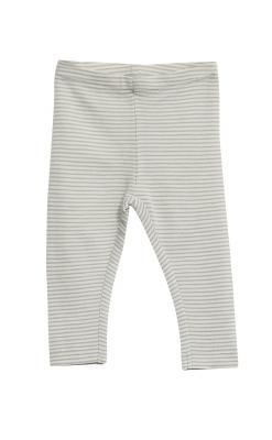Bukser med lyseblå -hvide striber i 100% merinould fra Wheat