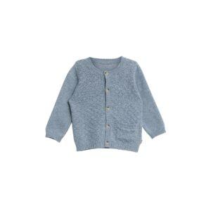 5c217348291b Cardigan i blå uld bomuld. Strikke med harlekin mønster. Lille lomme foran.  Wheat