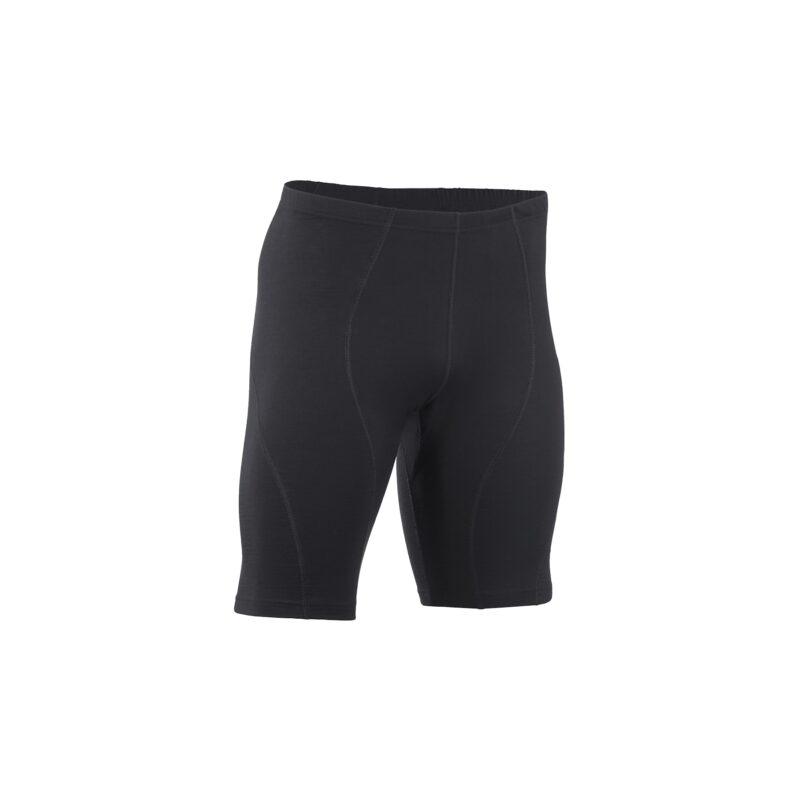 Løbe shorts til herre. Sorte shorts i uld silke. Bæredygtig GOTS. Engel.