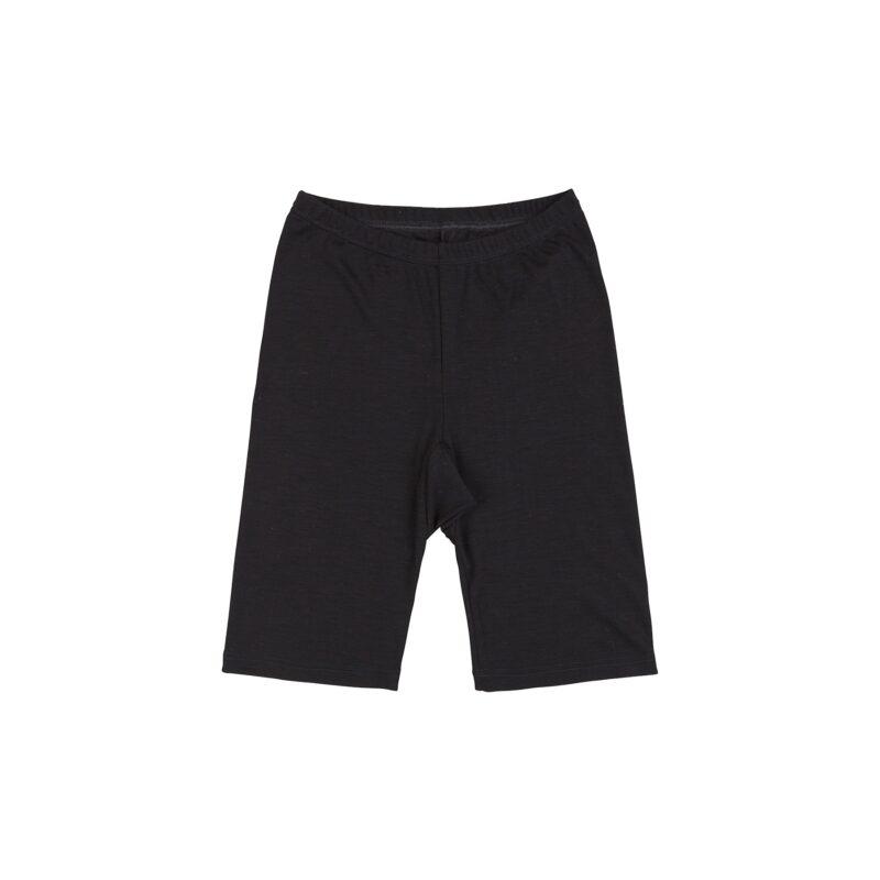 Shorts til kvinde i sort uld silke. Joha.