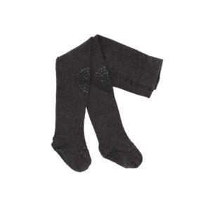 Kravlestrømpebukser med dutter. GoBabyGo strømpebukser i mørkegrå uld.
