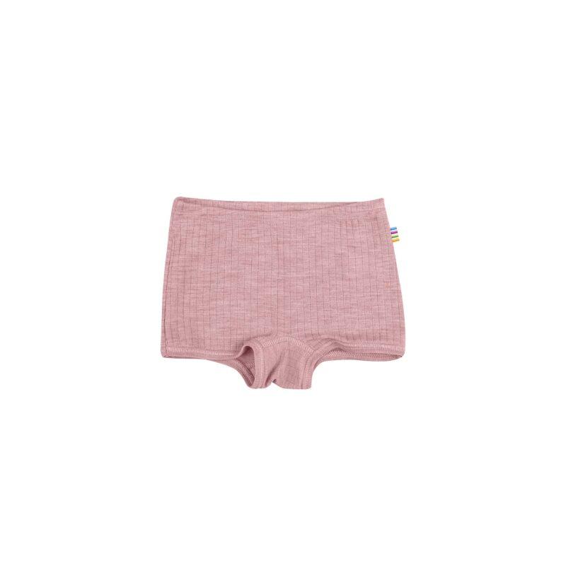 Hipsters til pige i 100% merinould. Rosa underbukser fra Joha.