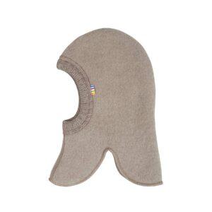Elefanthue i uldfleece. Sesam farvet elefanthue fra Joha.