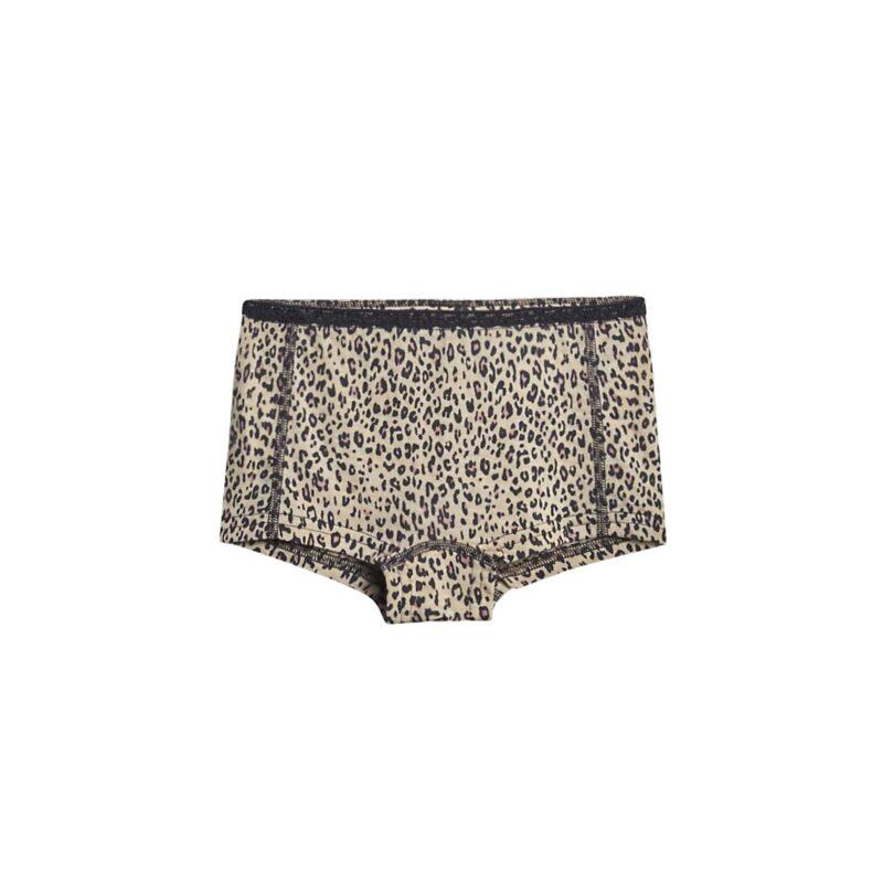 Hipsters til piger i uld silke. Leopard mønster og blondekant. Hust & Claire.