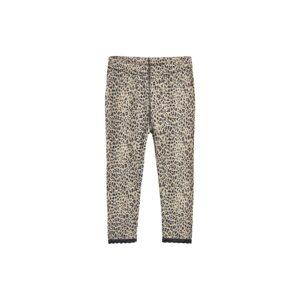 Natbukser til pige i uld silke. Mønster med leopardprikekr og blondekanter. Hust & Claire.