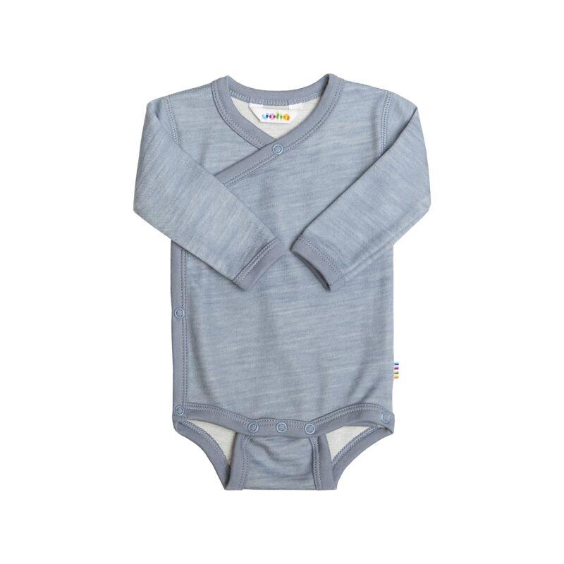 Body til for tidligt født baby. Joha præmatur body i uld bambus. Blå.