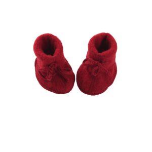 Futter i uldfleece. Rød økologisk uld fra Engel. GOTS.