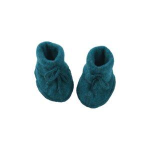 Futter i uldfleece. Petroliumsblå farvet økologisk uld fra Engel. GOTS.